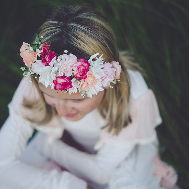 Partial flower crown | designed by Natasha Price of Paper Peony and photo by Laura Stennett Photography
