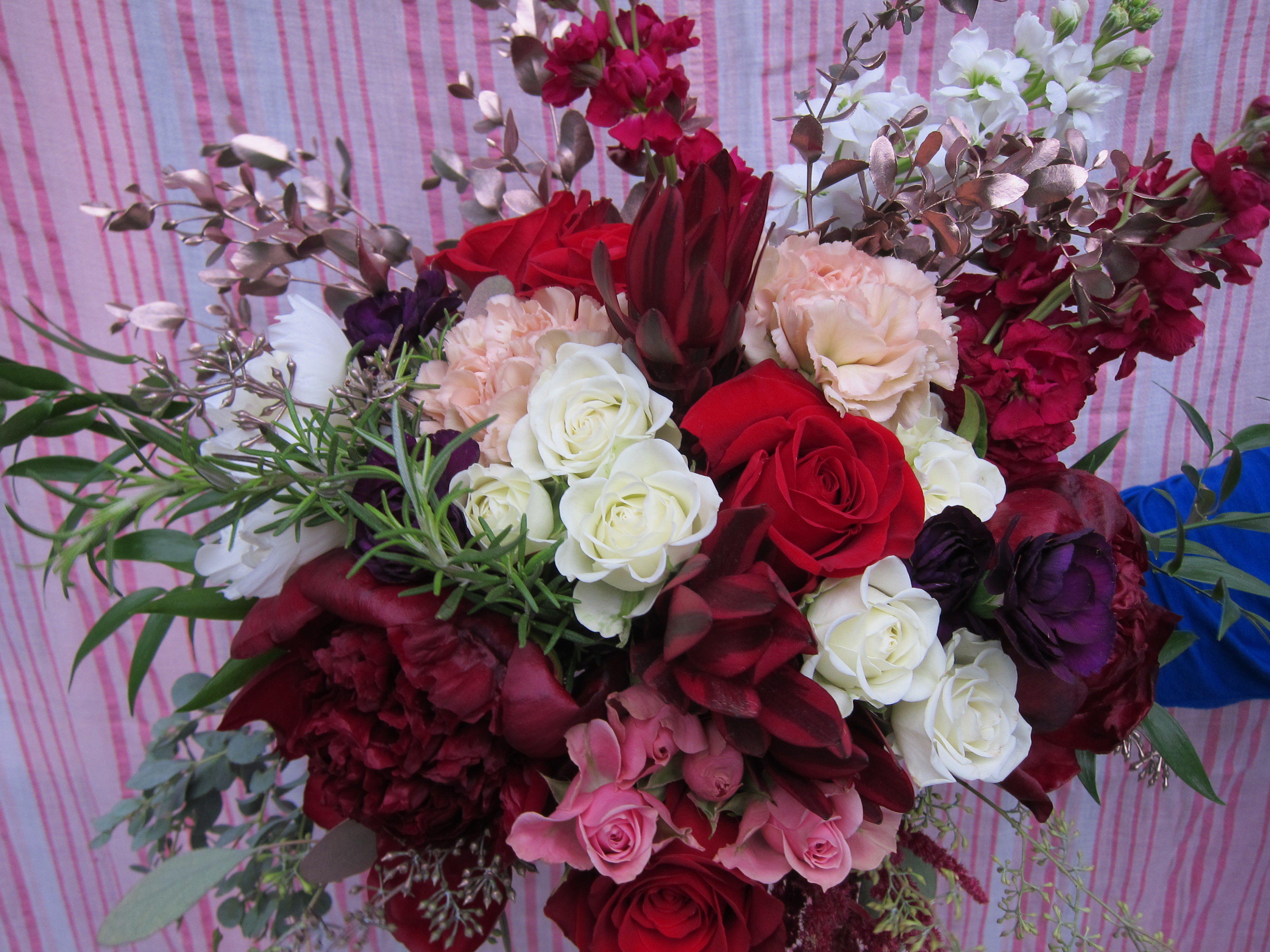 Burgundy peony bridal bouquet by Natasha Price of Paper Peony