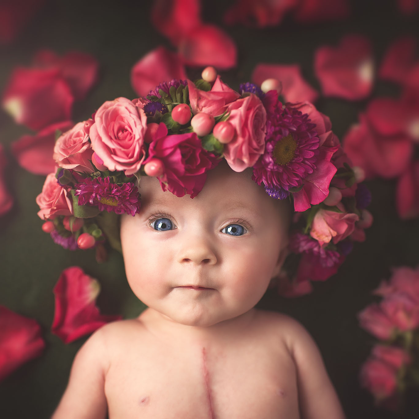 specialty baby crown designed by Natasha Price of Paper Peony Alaska and photo by Laura Stennett Photography