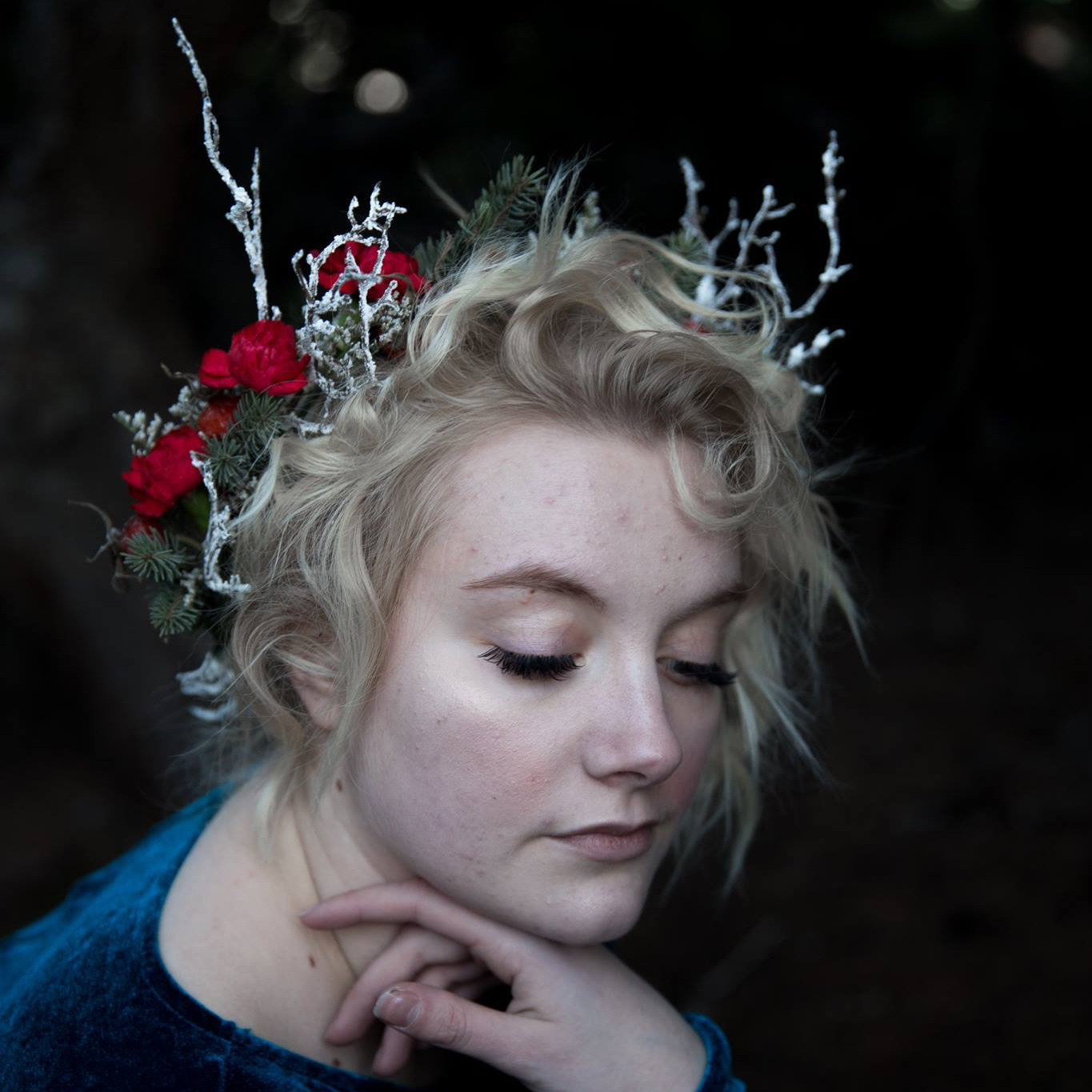 Flower crown by Natasha Price of Paper Peony Alaska and photo by Cleo Jane Photography