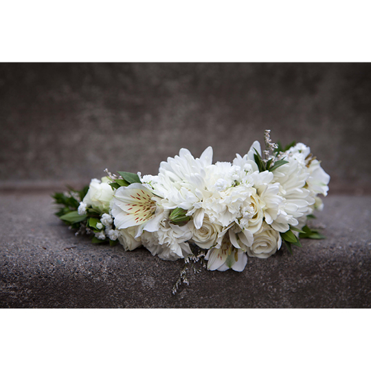 Asymmetrical crown by Natasha Price of Paper Peony Alaska