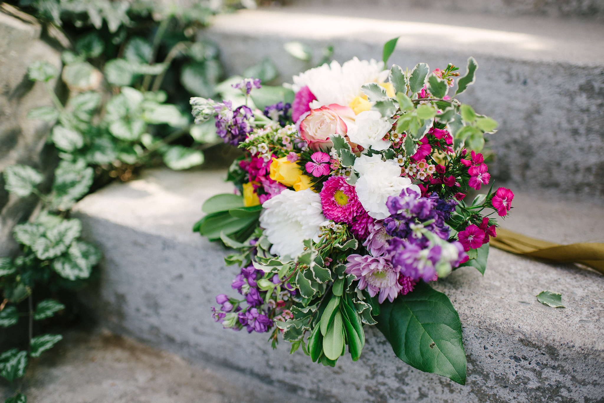 Colorful bridal bouquet by Natasha Price of Paper Peony Alaska | Photo by Sara Olivia Photographer