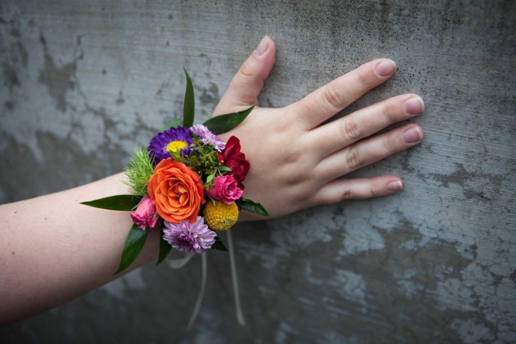 Colorful corsage by Natasha Price of Paper Peony Alaska