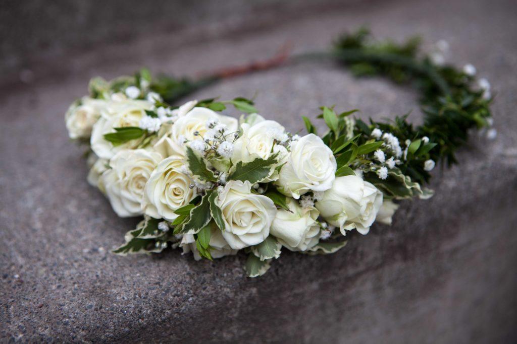 Spray rose crown by Natasha Price of Paper Peony Alaska