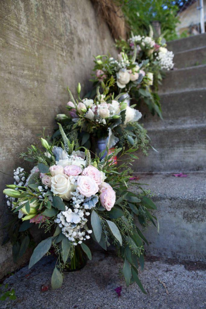 Romantic bridal bouquet with Alaska Peonies by Natasha Price of Paper Peony Alaska
