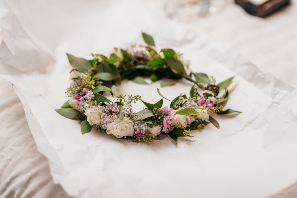 Wild Alaska flower crown by Natasha Price of Paper Peony Alaska