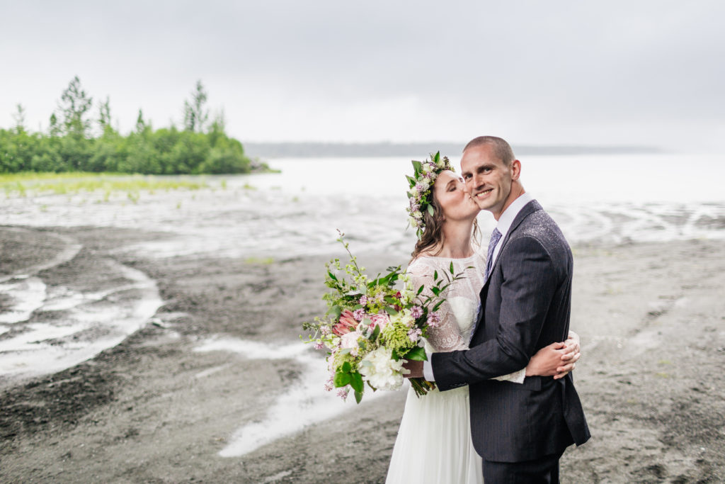 Big Alaska bridal bouquet by Natasha Price of Paper Peony Alaska