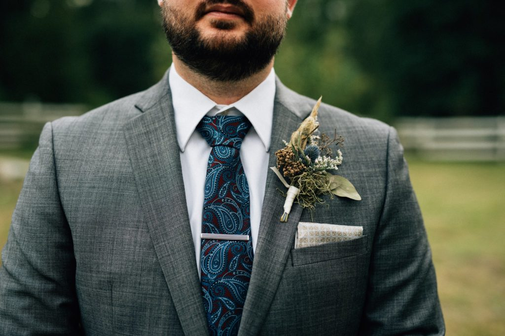 Dried boutonniere by Paper Peony Alaska