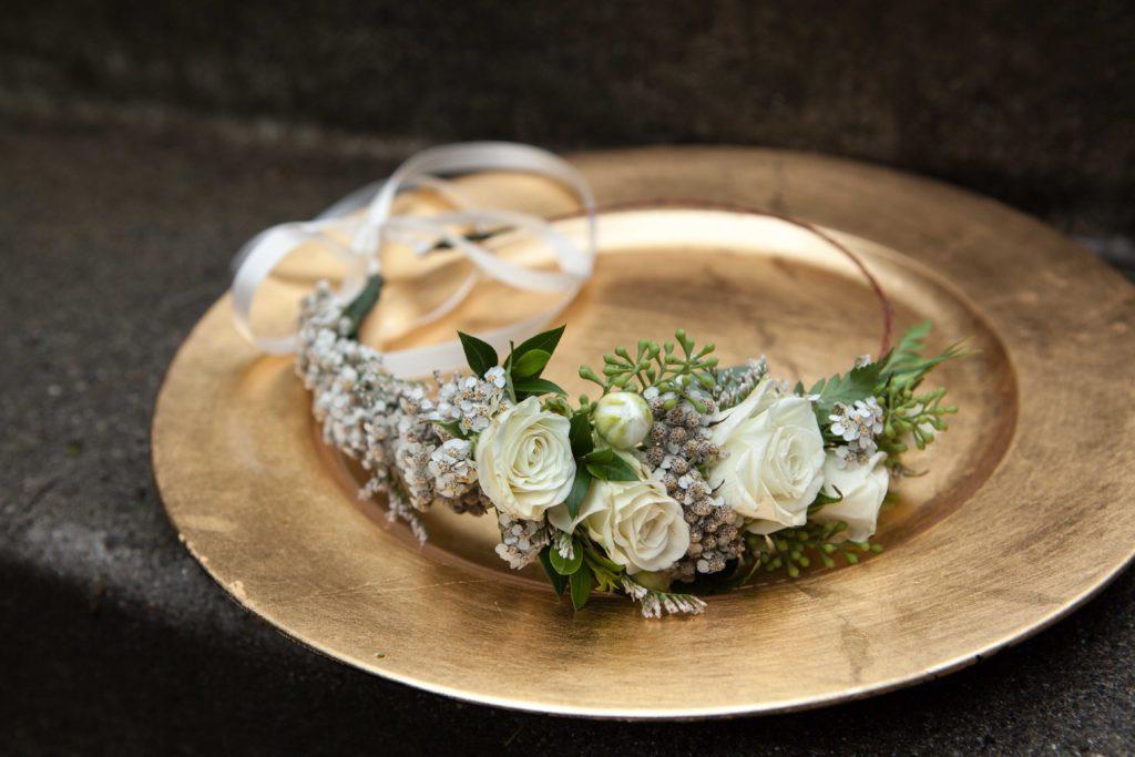 bridal crown by Paper Peony Alaska