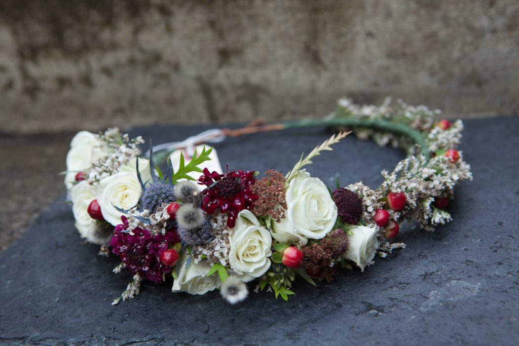 Foraged flower crown by Paper Peony Alaska