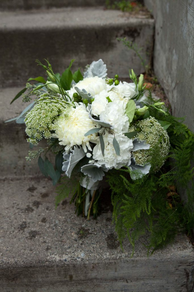 Bridal bouquet by Paper Peony Alaska