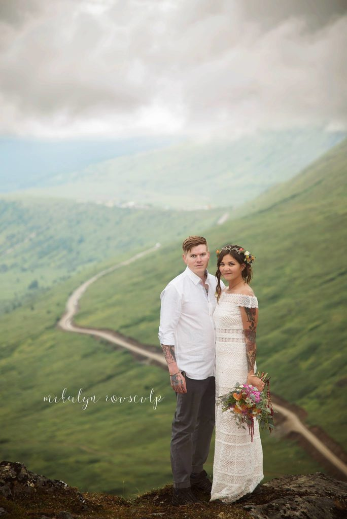 Alaskan Wedding on the edge of tomorrow | Flowers by Paper Peony Alaska and photo by Mikalyn Rousculp