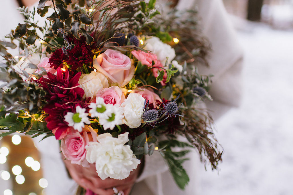 Ice Styled Shoot | Flowers by Paper Peony Alaska, Photos by Sara Olivia Photographer
