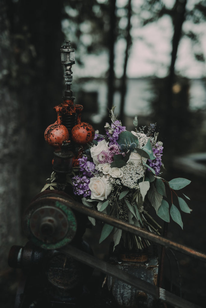 Wedding flowers by Anchorage florist Natasha Price of Paper Peony Alaska   Photo by Chelsa J. Photography