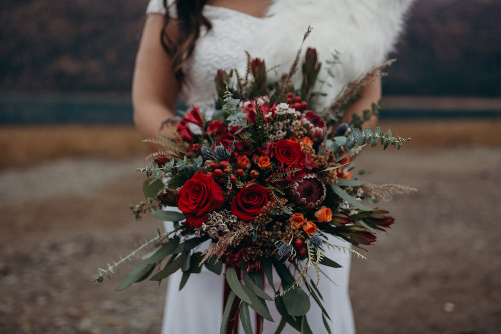 Alaska wedding flowers by Anchorage florist Natasha Price of Paper Peony Alaska | Photo by Kristian Irey