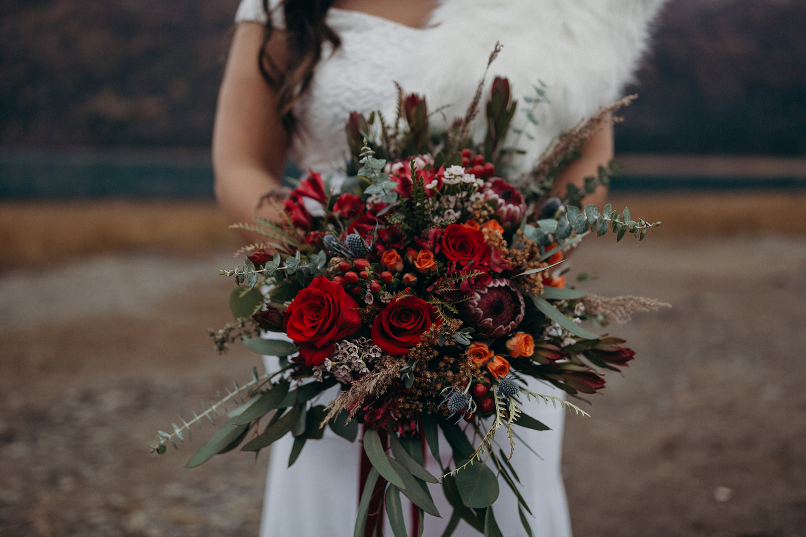 Bridal bouquet by Anchorage florist Natasha Price of Paper Peony Alaska | Photo by Kristian Irey