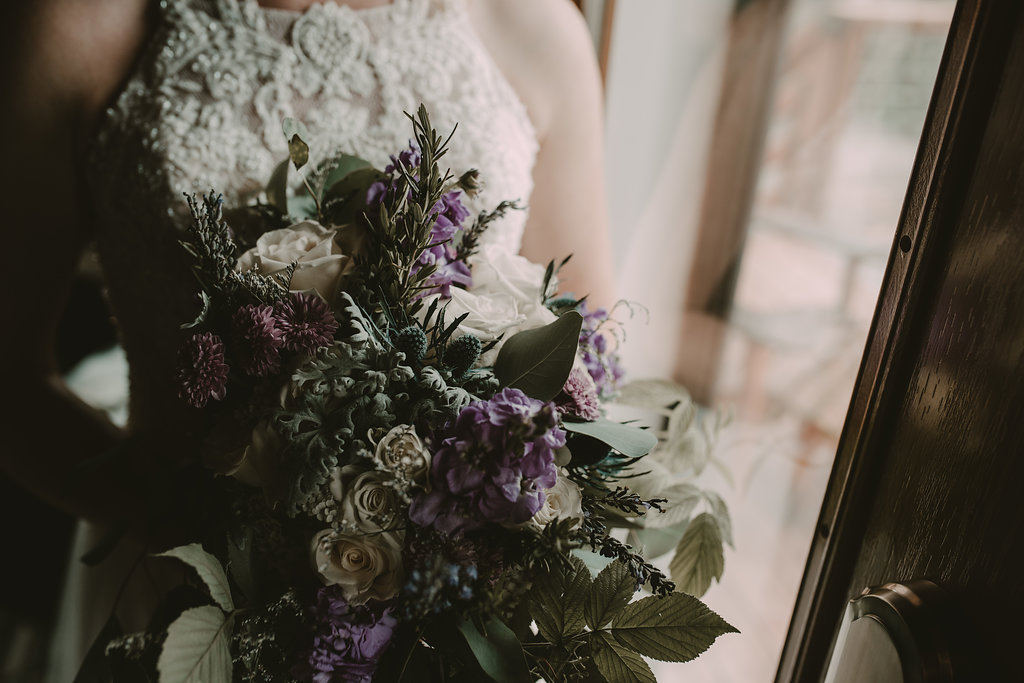 Bridal bouquet by Anchorage florist Natasha Price of Paper Peony Alaska | Photo by Chelsa J. Photography