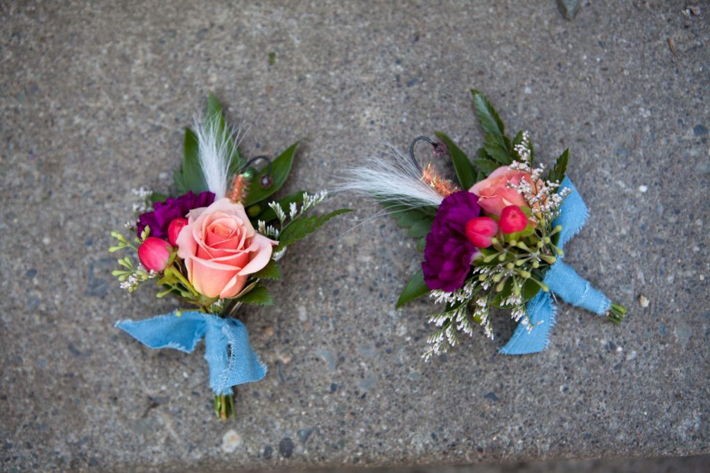 Wedding flowers by Anchorage florist Natasha Price of Paper Peony Alaska