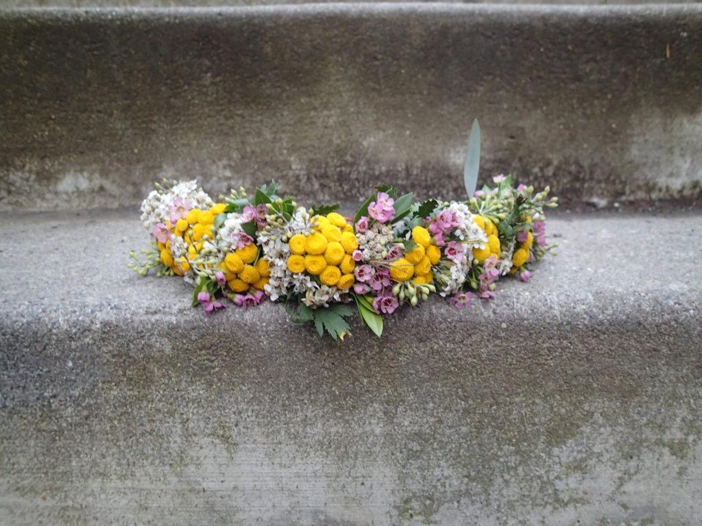 Wildflower crown by Anchorage florist Natasha Price of Paper Peony Alaska