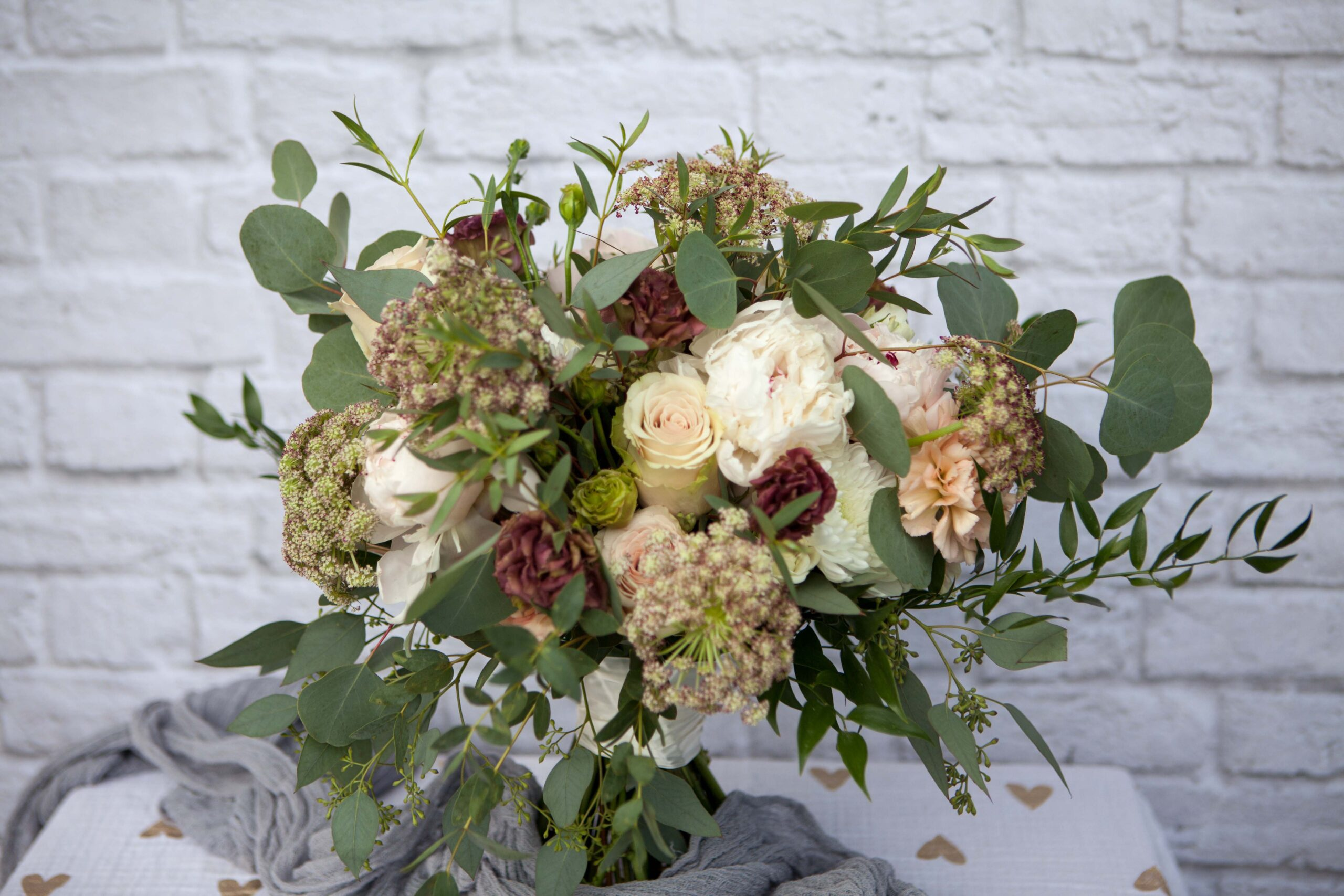 Bridal bouquet by Anchorage florist Natasha Price of Paper Peony Alaska