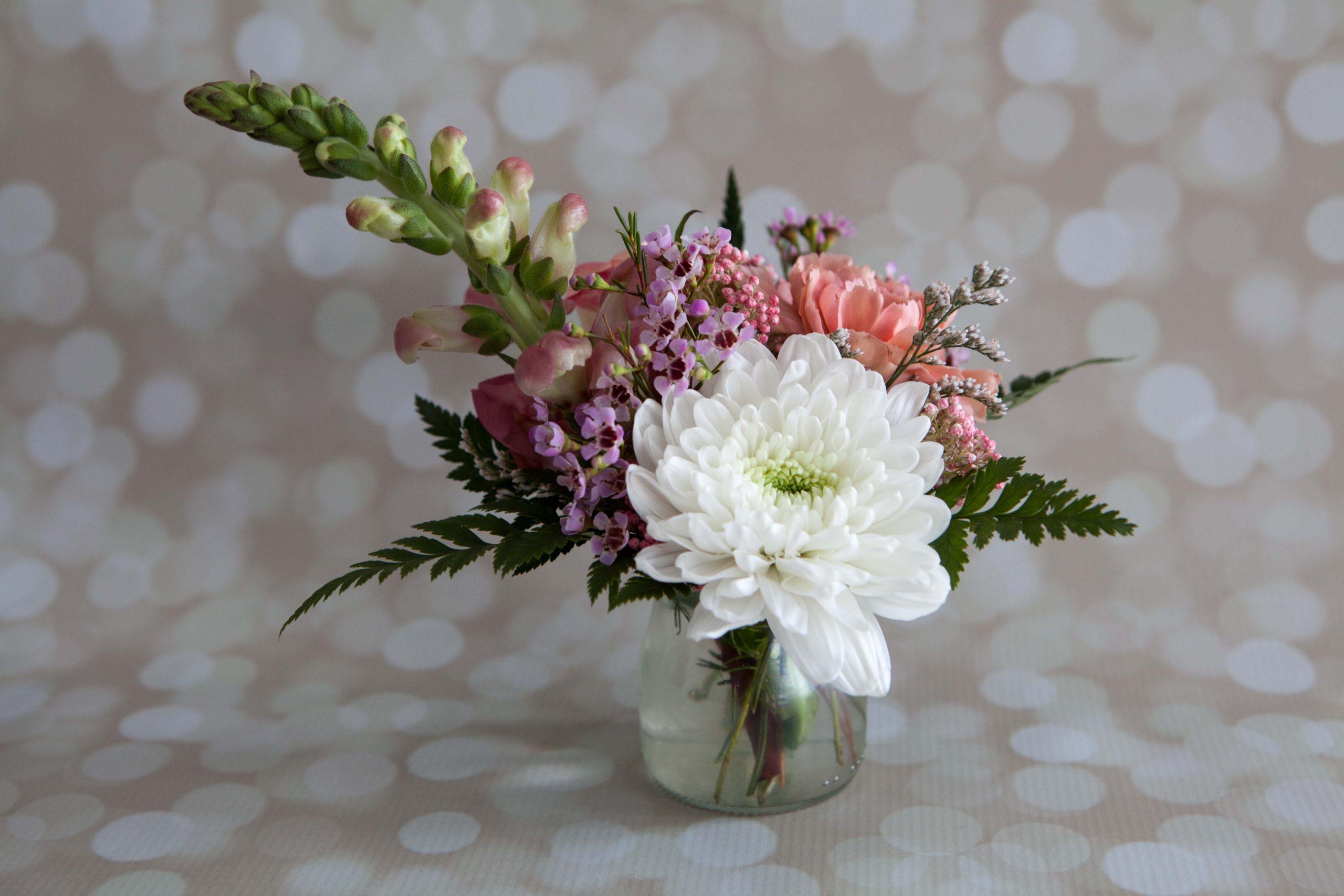 Bootlegger arrangement designed by Anchorage florist Natasha Price of Paper Peony Alaska